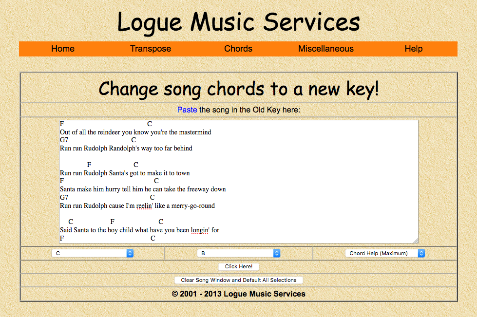 Change song chords to a new key!   Neil Rigby's HQ