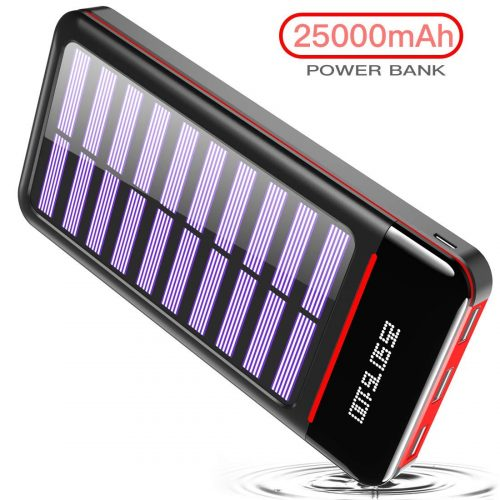 25000mAh Fast Charging Portable Power Bank Solar Charger