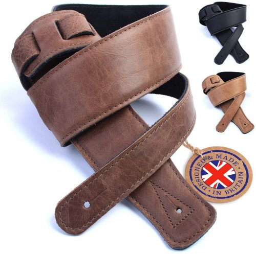 leather padded guitar strap